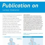 Publication on Lactose Intolerance