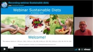 Recording webinar Sustainable diets