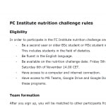 Eligibility and rules