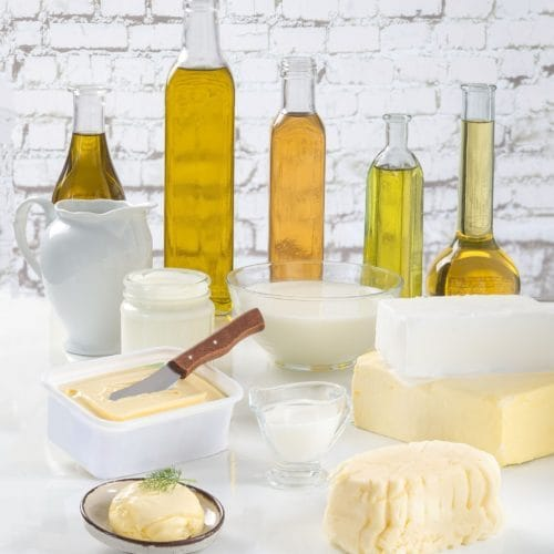 Fat content and fat composition of dairy products