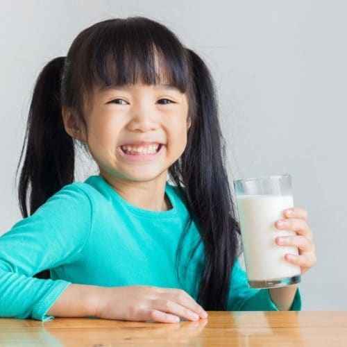 Milk provides high quality protein essential for growth