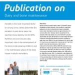 Publication on Dairy and bone maintenance