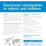 Functional constipation in infants and children