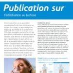 Publication sur l'intolérance au lactose