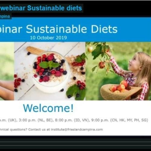Webinar Sustainable diets – by prof. Pieter van 't Veer