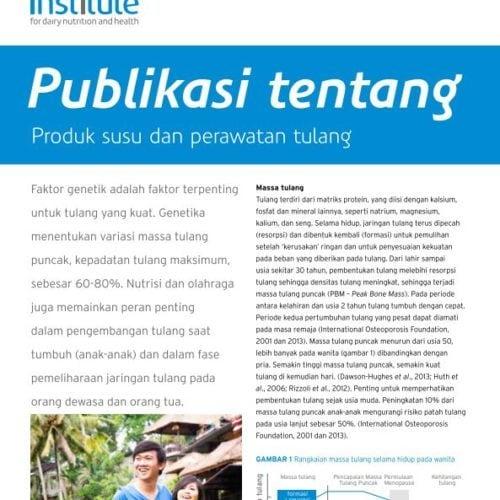 Publikasi tentang Produk susu dan perawatan tulang
