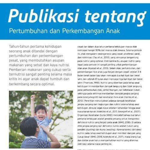 Publikasi tentang tumbuh kembang anak
