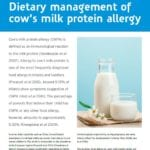 Publication Dietary management of cow's milk protein allergy