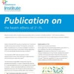 Publication The health effects of 2'-FL