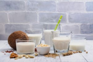Review comparing cow's milk to various plant-based beverages that are positioned as milk alternatives